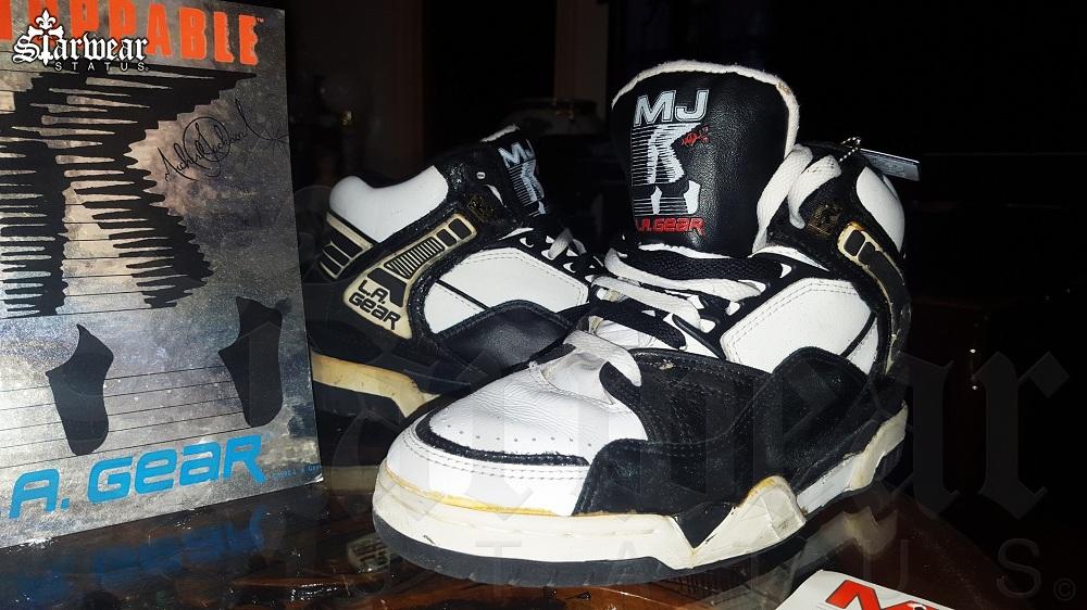 6e2f9caaacf4 Michael Jackson LA Gear Unstoppable High Top Shoes Black White ...