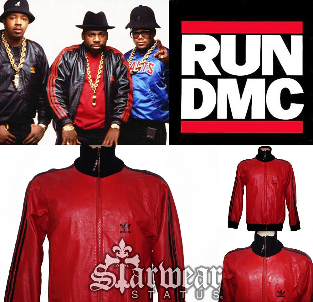 2c6244f3bfa5 Adidas A-15 Vintage Old School  RUN DMC  Style Red   Black Leather ...