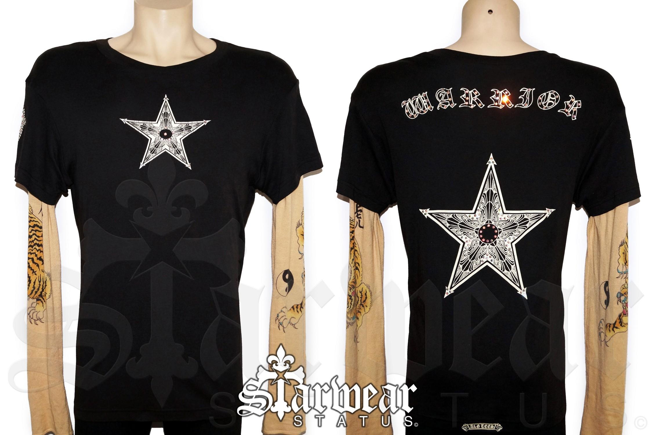 05ee4bf9087 A G CASHMERE x Chrome Hearts Star SWAROVSKI Crystal Studded Tattoo ...