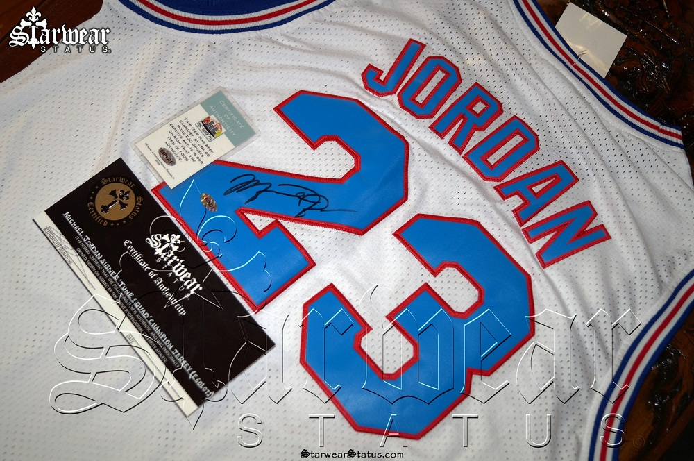 cheap for discount 3a87b 315c7 Michael Jordan SIGNED 'Tune Squad' SPACE JAM Cartoon Basketball Looney  Toons Jersey (Very Rare)