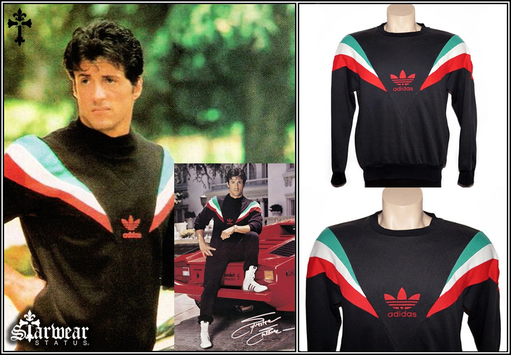 VERY RARE Authentic 'Rocky IV' Adidas Originals Italian Vintage 1980's Sweater Jumper M (Seen Worn By Sylvester Stallone as Rocky Balboa)
