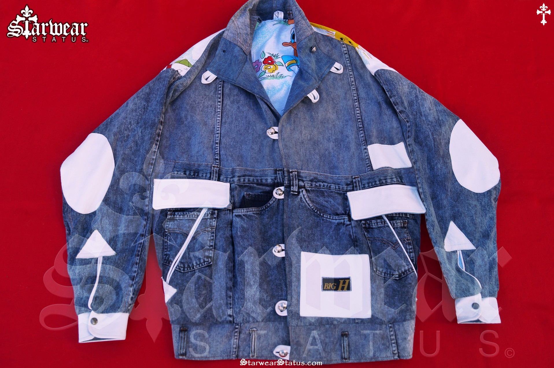 David Hasselhoff Owned Walt Disney Leather Detail Denim Jacket Ft