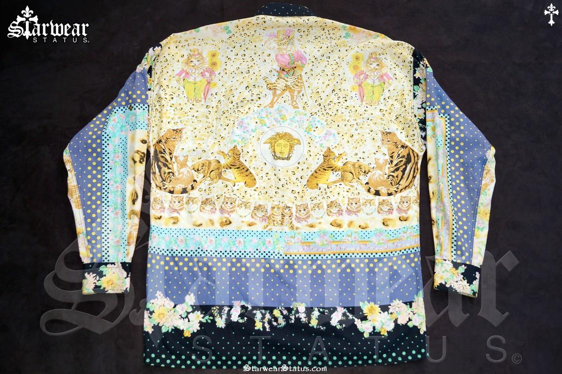 2bccaef6698a Vintage 90 s VERSACE Medusa Button Down Long Sleeve Dress Shirt Mens ...