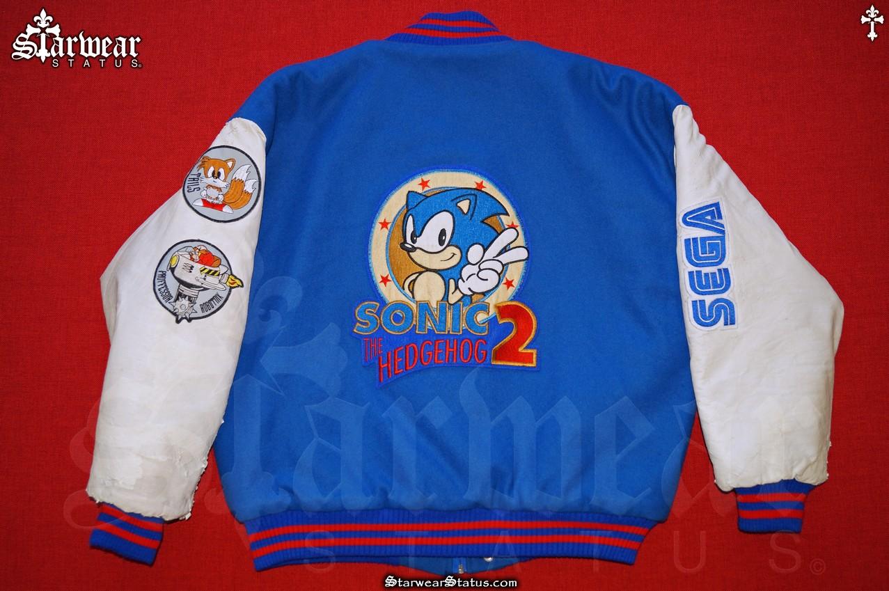 Sonic The Hedgehog Sega Game Movie Crew Varsity Letterman Bomber Jacket Mens Size L Xl Vintage 90s Original Starwear Status